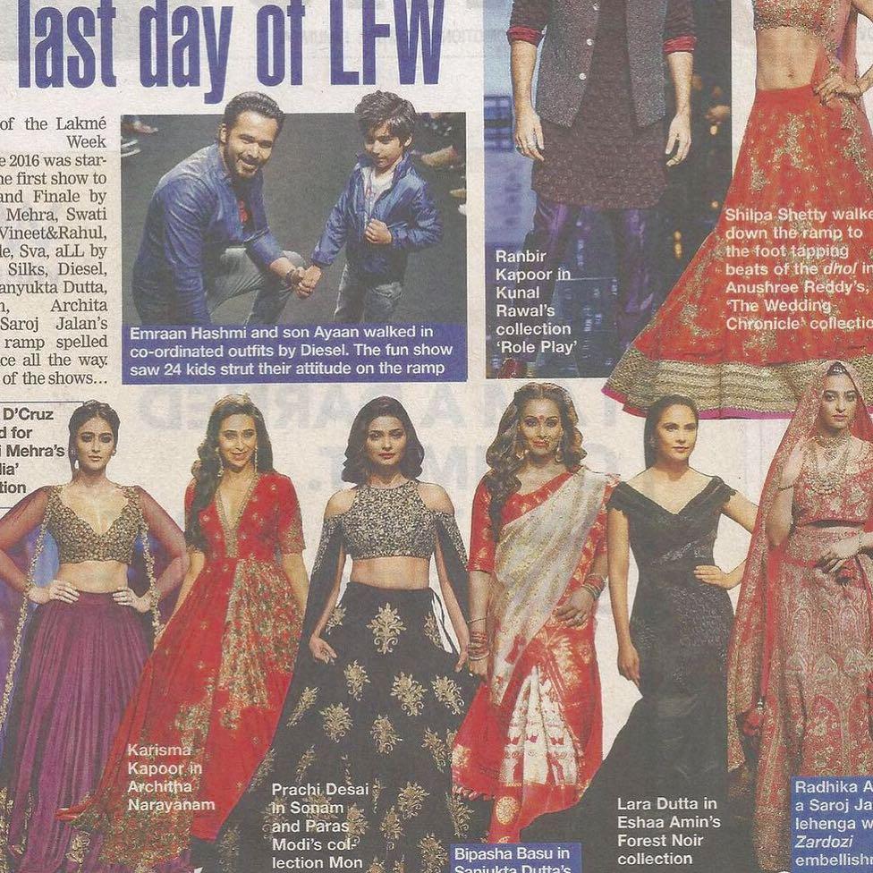 Bombay Times| Eshaa Amiin Label| Lara Dutta