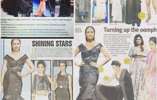 Media coverage from @eshaamiinlabel1 s @lakmefashionwk show thankyou @absoluteindia @vogueindia @marcelusbaptista mid day