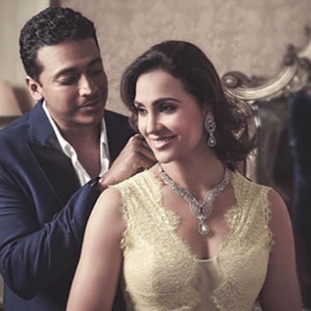 Lara Dutta and Mahesh Bhupati #gitanjalijewelsretail