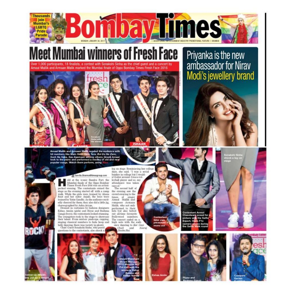 Bombay Times| Times Fresh Face
