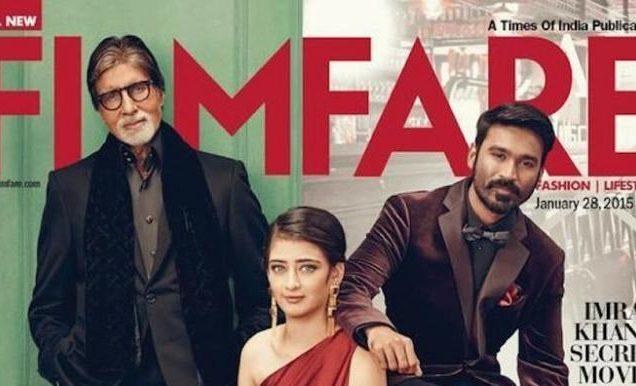 Filmfare Magazine Shoot featuring Amitabh Bachchan, Dhanush and Akshara Haasan