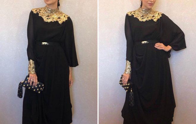 Karishma Kapoor in Sabyasachi dress