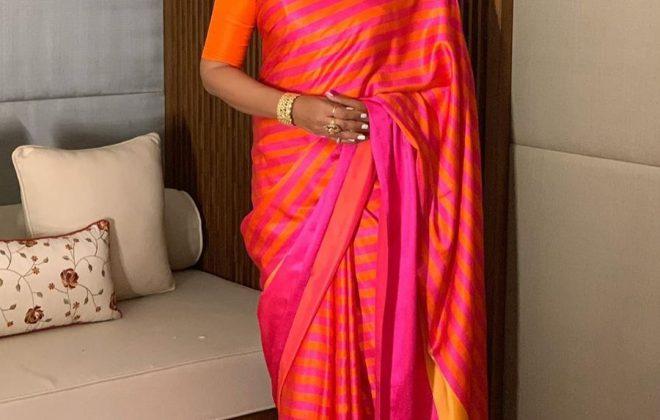 Bipasha Basu in a Raw Mango Saree