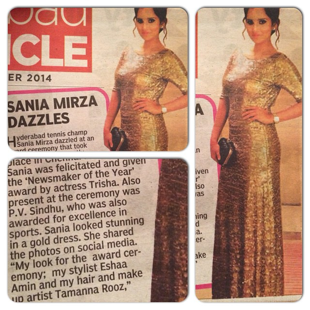 Sania Mirza Press