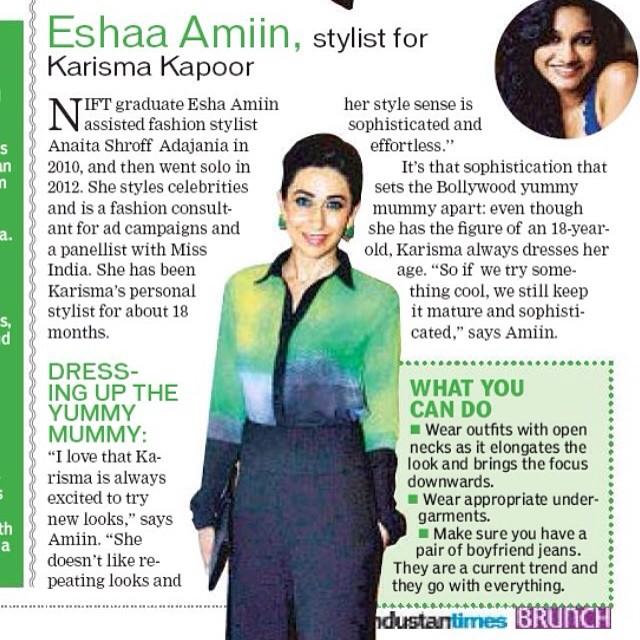 Hindustan Times featuring Eshaa Amiin