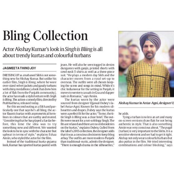 The Indian Express| Singh Is Bliing