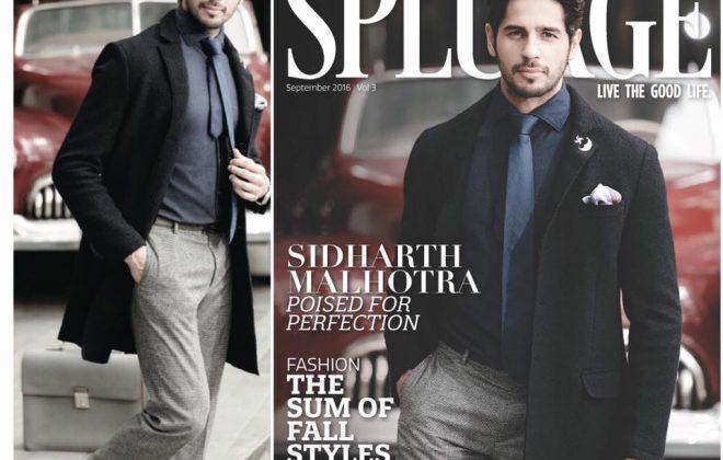 Outlook Splurge magazine editorial photoshoot with bollywood actor Sidharth Malhotra styled by fashion designer and stylist Eshaa Amiin