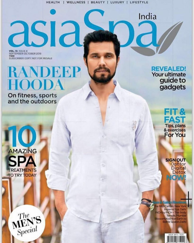 Asia Spa Magazine cover with Randeep Hooda