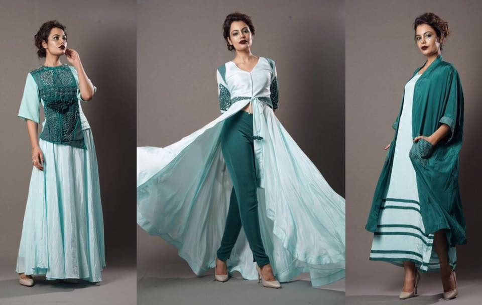Eshaa Amiin label by popular celebrity stylist and fashion designer Eshaa Amiin launches festive line 2016 available at Aza Juhu