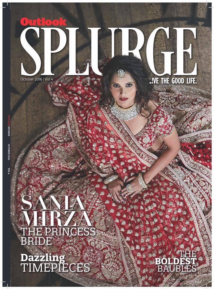 Outlook Splurge magazine editorial photoshoot with Tennis Star Sania Mirza styled by fashion designer and stylist Eshaa Amiin