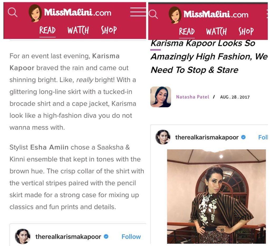 Miss Malini featuring Karishma Kapoor