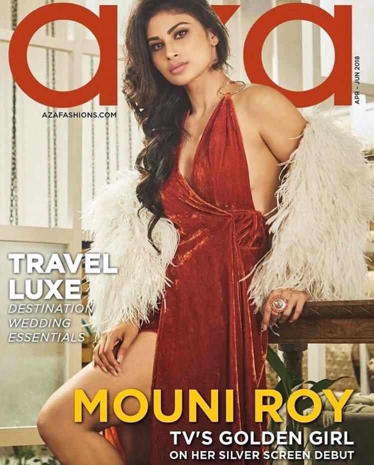 Mouni Roy for AZA MagazineRohan Shrestha, Devangi Parekh and Eshaa Amiin.