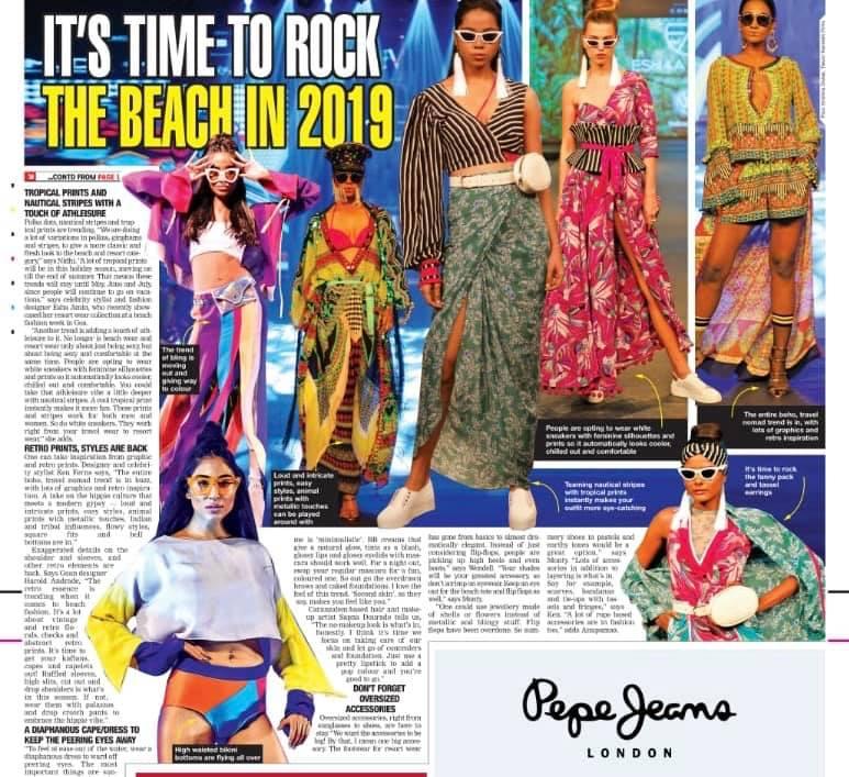 Goa Times Resort trend report 2019  Eshaa Amiin Label