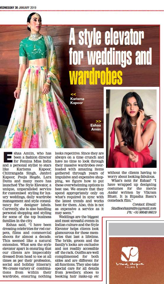 The Style Elevator Eshaa Amiin  Bombay Times  The Times of India
