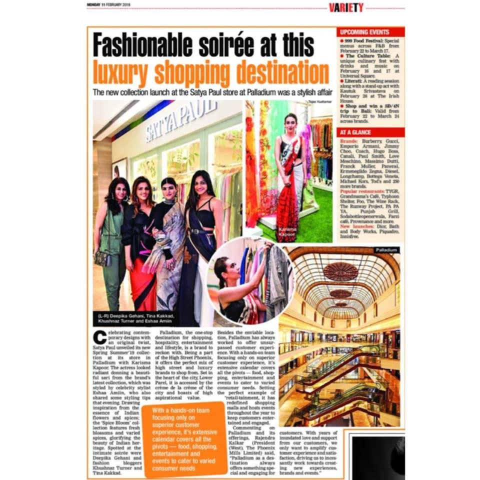 Bombaytimes  Satya Paul S/S19 Launch