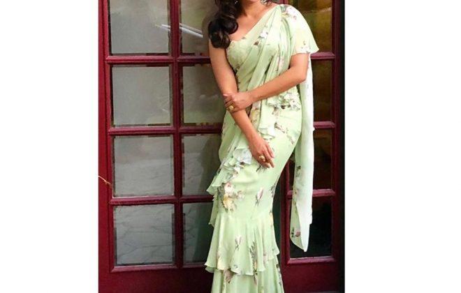 Lara Dutta Bhupati in Mahima Mahajan Saree