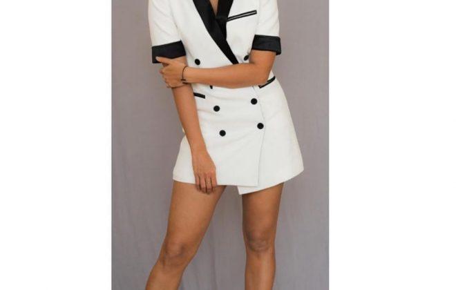 Pooja Hegde in Nisse blazer dress
